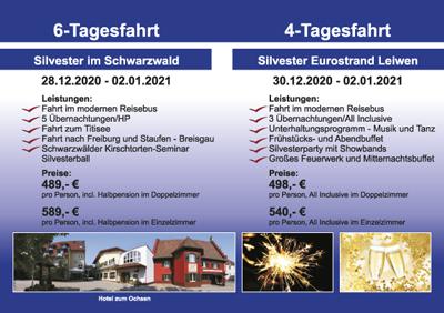 Silvester – Schwarzwald & Eurostrand – Leiwen.