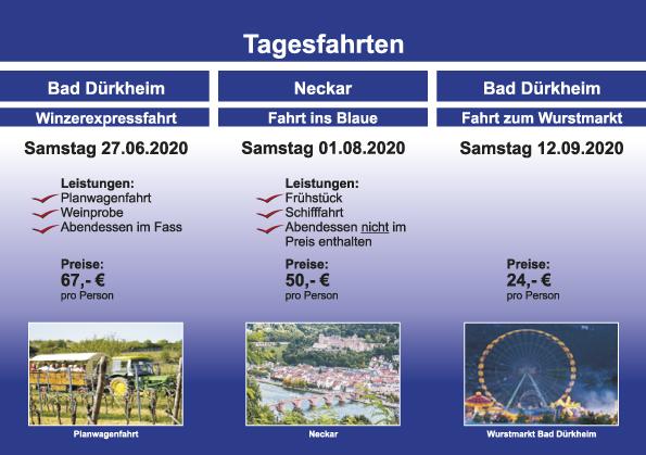 Tagesfahrten – Bad Dürkheim – Neckar